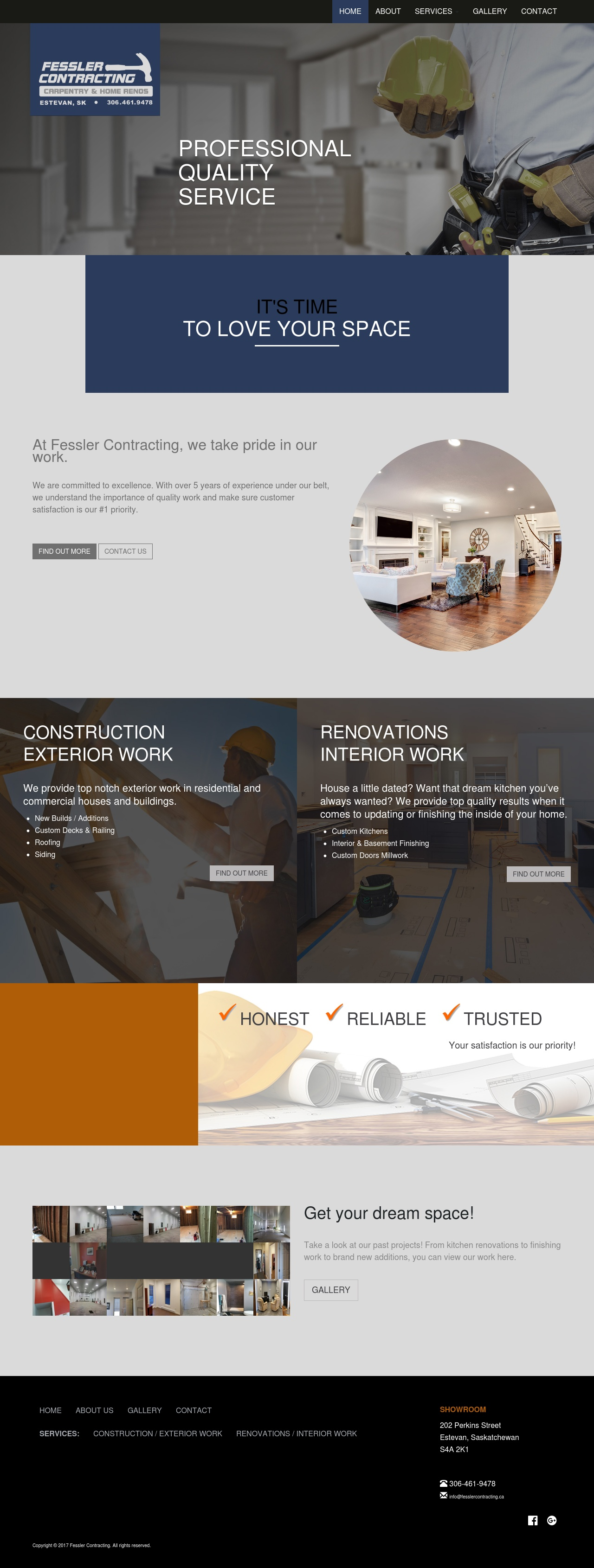 DMS Services Website Portfolio - Fessler Contracting.