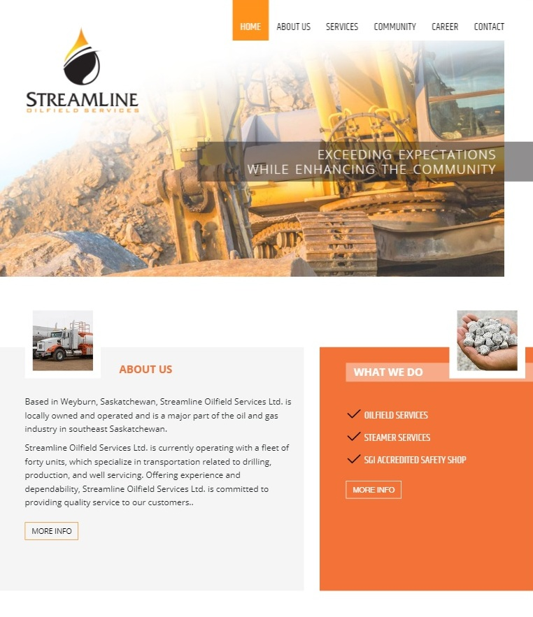 DMS Services Website Portfolio - Streamline Oilfield Services Ltd.