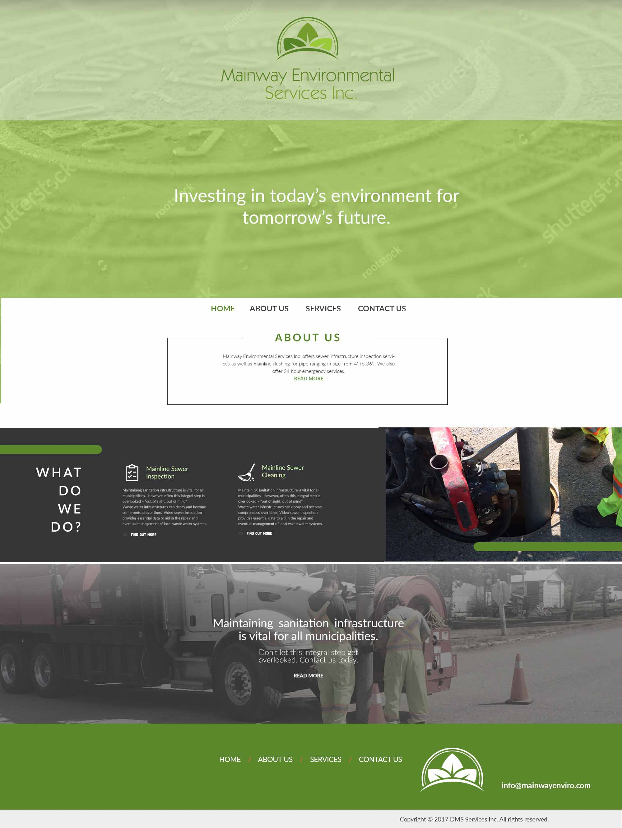 DMS Services Website Portfolio - Mainway Environmental Services Inc.