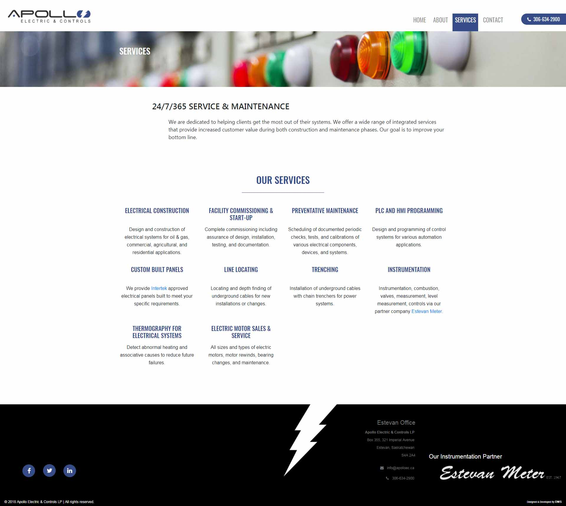 DMS Services Website Portfolio - Apollo Electric & Controls LP .