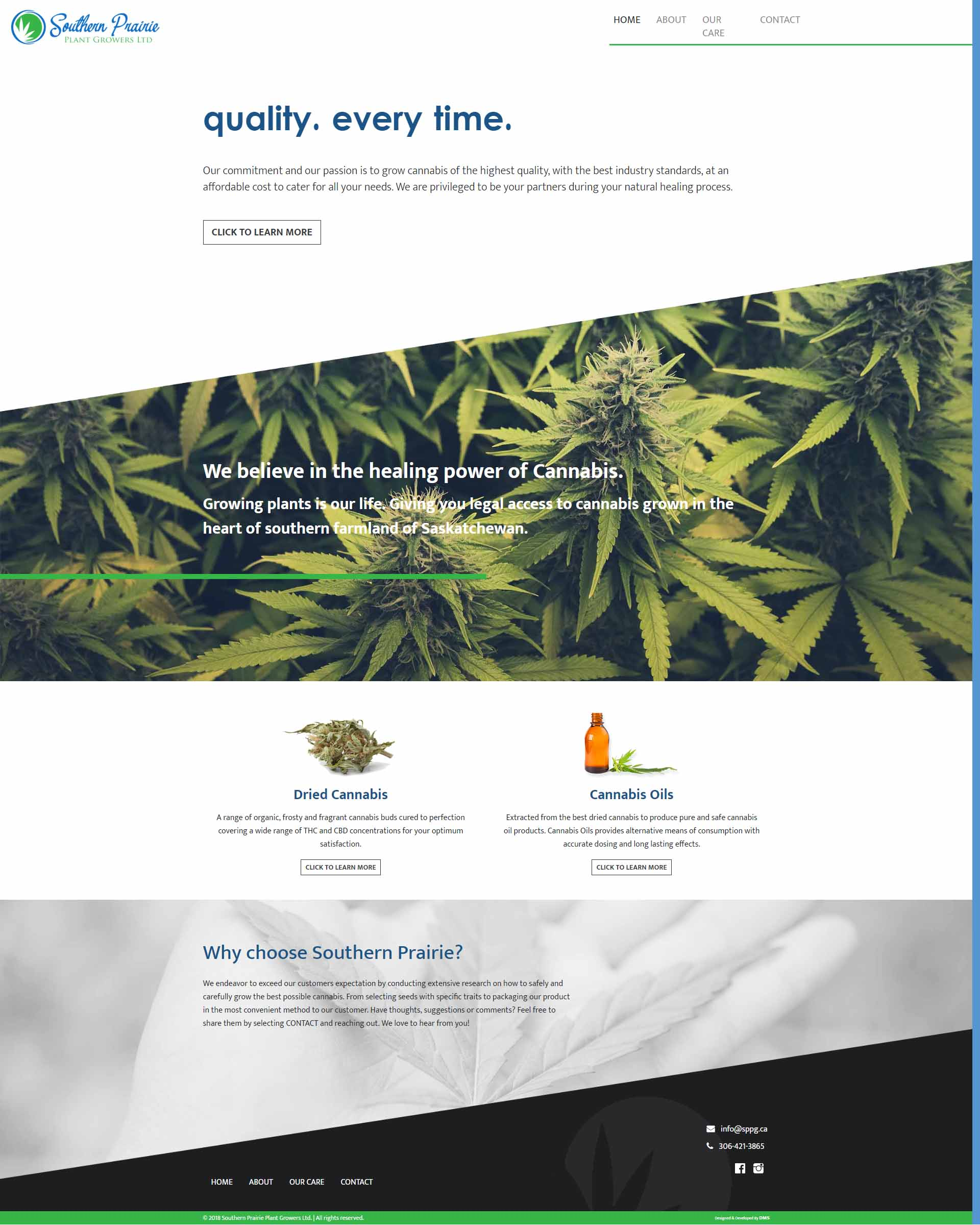 DMS Services Website Portfolio - Southern Prairie Plant Growers Ltd.