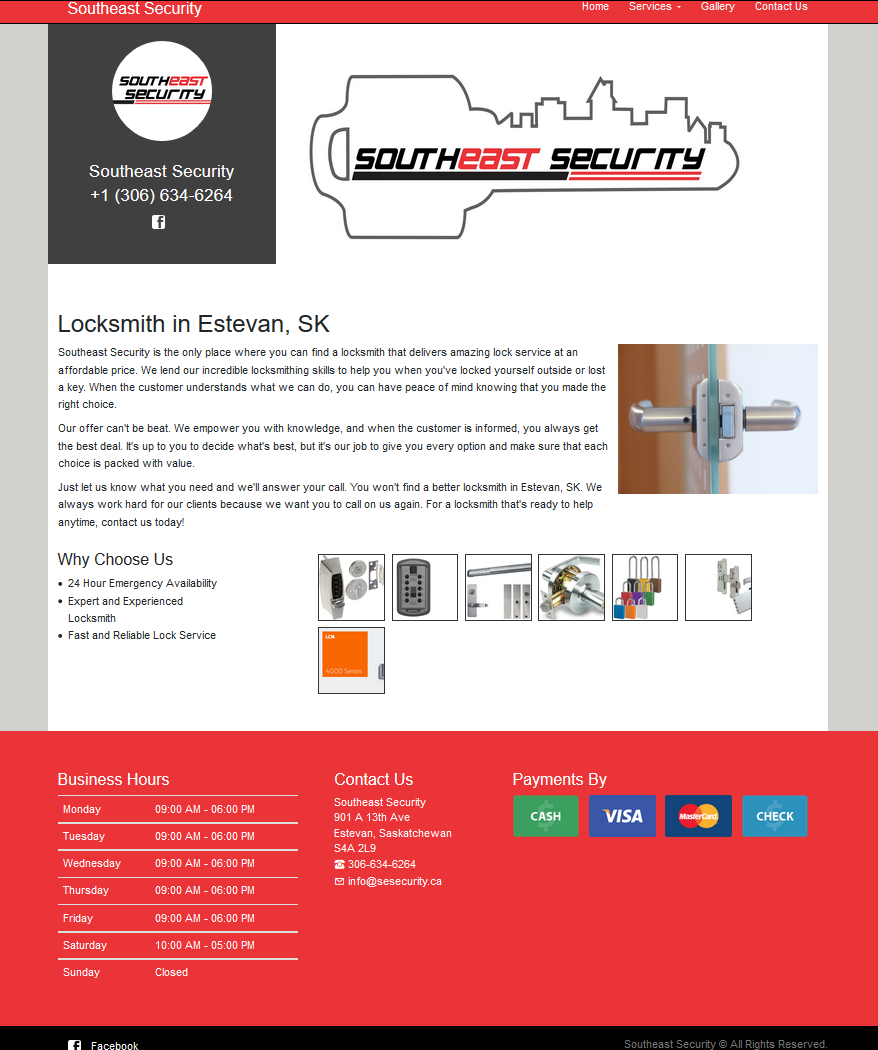DMS Services Website Portfolio - Southeast Security