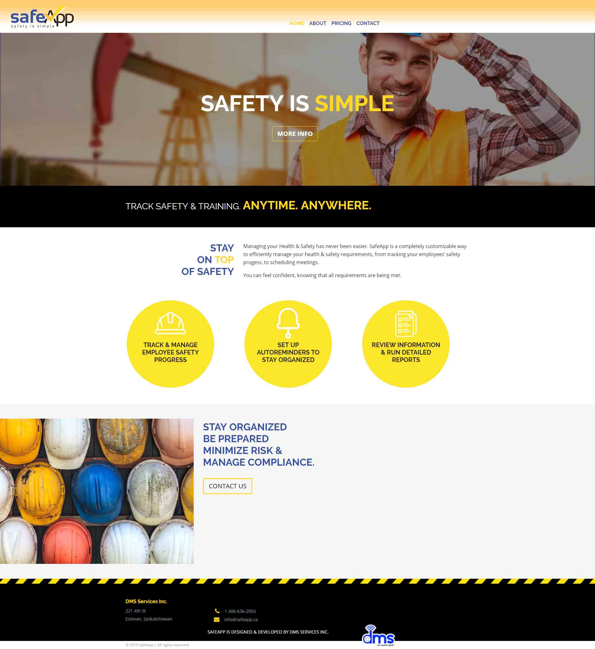 DMS Services Website Portfolio - SafeApp