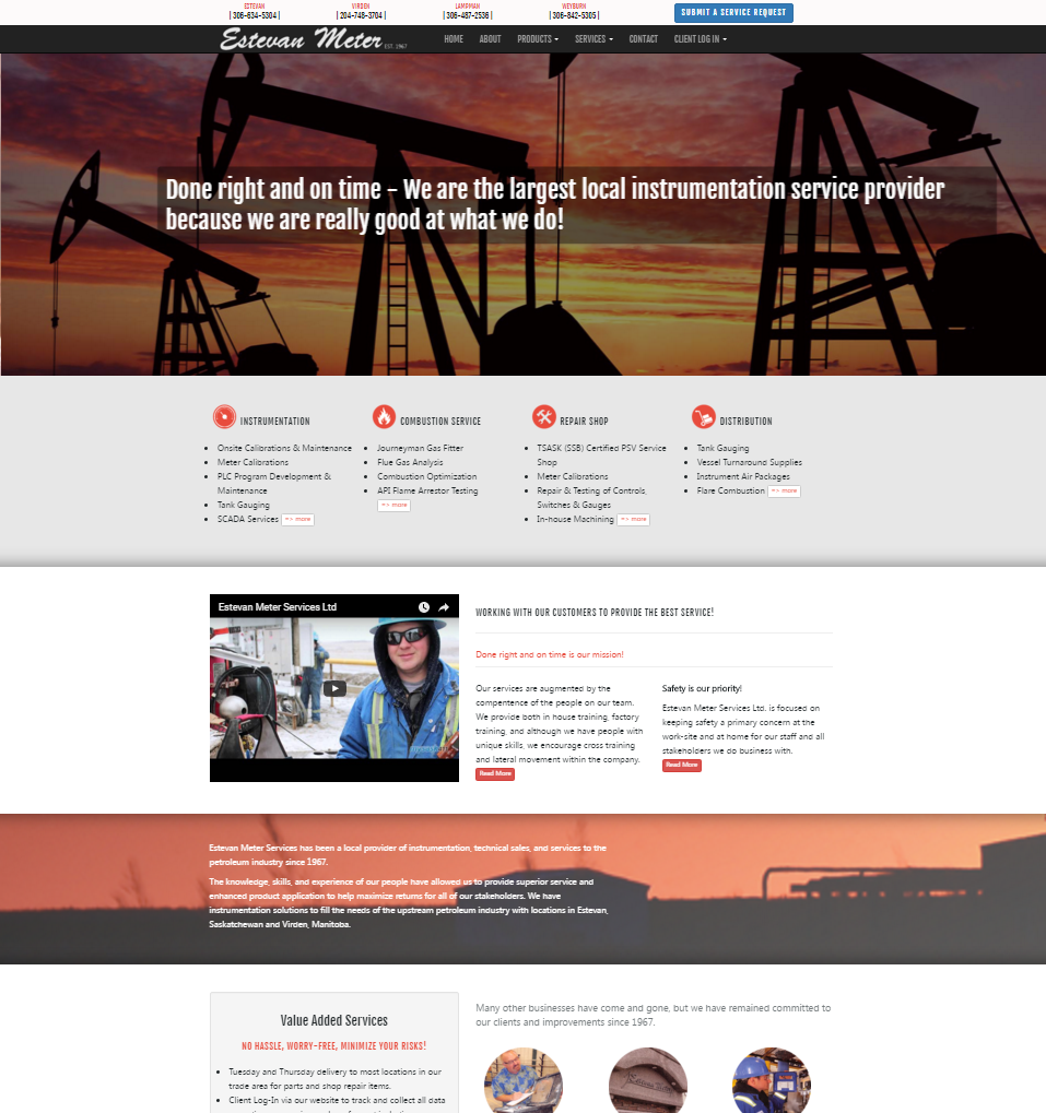 DMS Services Website Portfolio - Estevan Meter Services