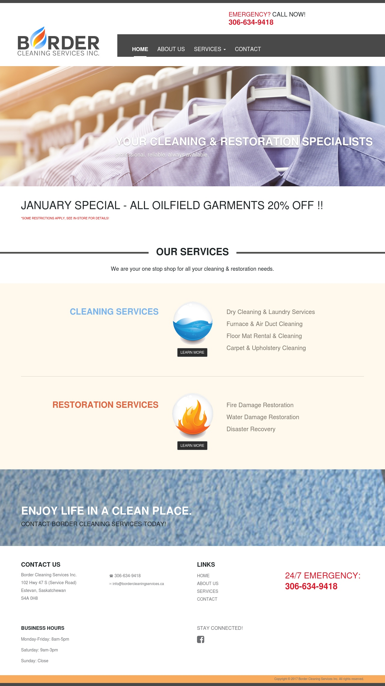 DMS Services Website Portfolio - Border Cleaning Services Inc.